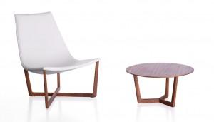 Πολυθρόνα Jade και τραπέζι Shahan του Christophe Pillet για την Porro.