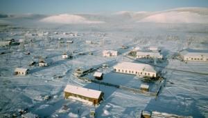 Aerial Of Oymyakon Town, Siberia