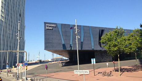 To μουσείο Blau (Barcelona Forum) από τους Herzog & de Meuron, στη Βαρκελώνη.