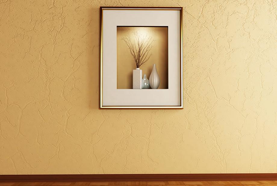 Κάντε τεχνοτροπία σε έναν τοίχο και δώστε του μια πιο μεταλλική όψη.