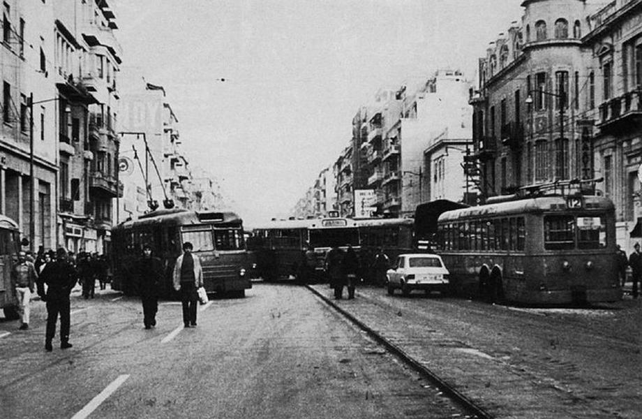 Τρόλεϊ στην Πατησίων στις αρχές της δεκαετίας.