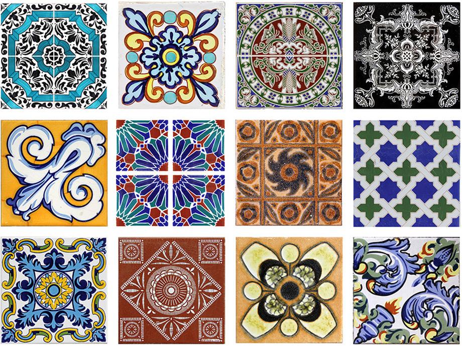 Δώστε μεσογειακό στυλ χρησιμοποιώντας παλιά πλακάκια και συνδυάζοντας διαφορετικά μοτίβα.