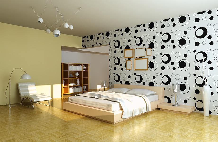 Τα γεωμετρικά σχήματα ταιριάζουν σε χώρους με μοντέρνα επίπλωση.