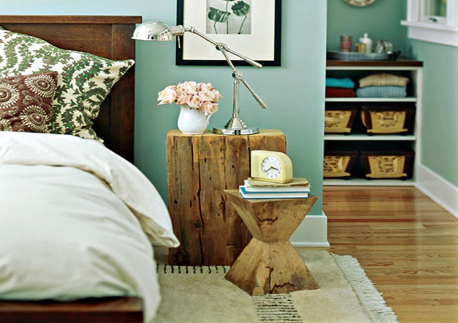 Tο χρώμα της μέντας προσδίδει αέρα φρεσκάδας και συνδυάζεται πολύ καλά με ξύλινα αντικείμενα.