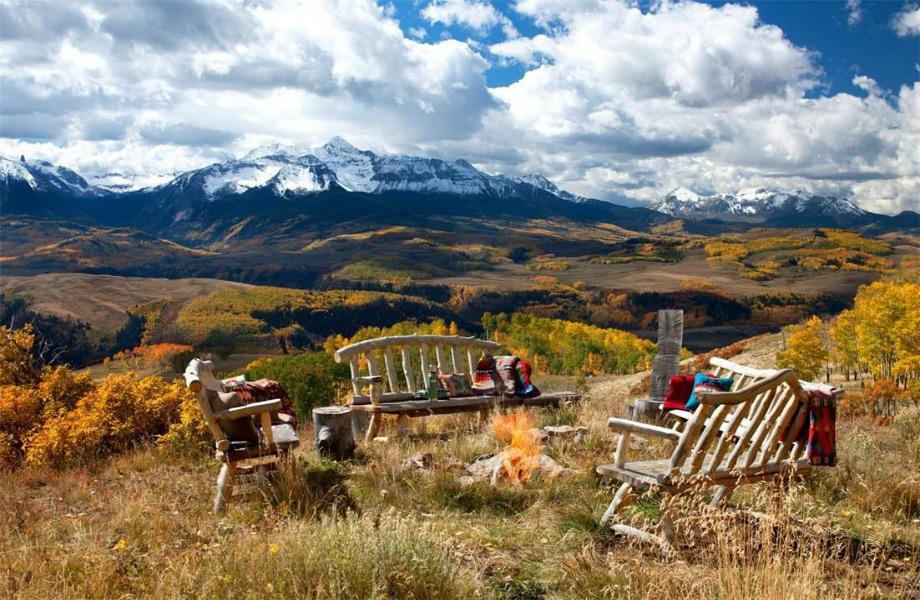To ράντσο διαθέτει μοναδική θέα στο ορεινό τοπίο του Κολοράντο.