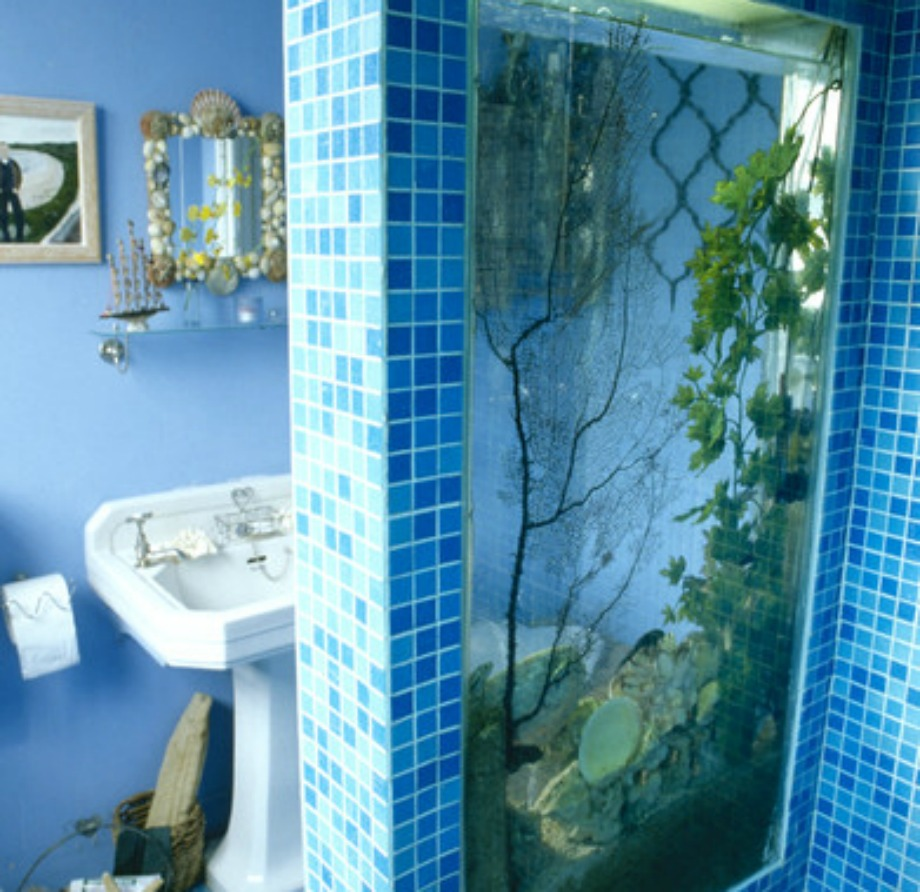 Μην βάζετε ούτε ενυδρεία ούτε ταπετσαρίες-ενυδρεία στο μπάνιο σας