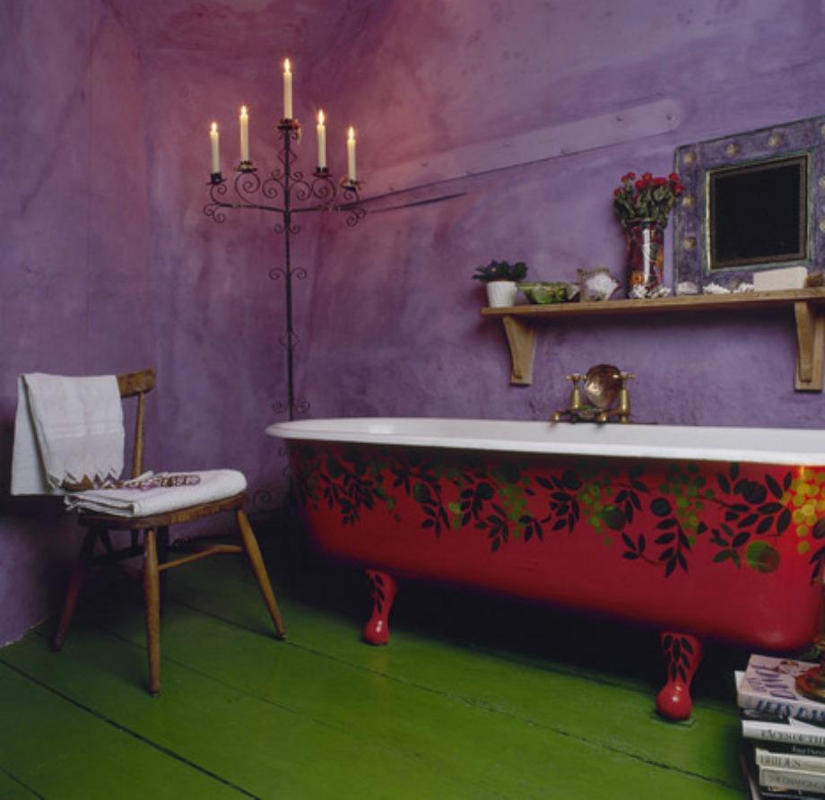Το έντονο χρώμα στο μπάνιο κουράζει