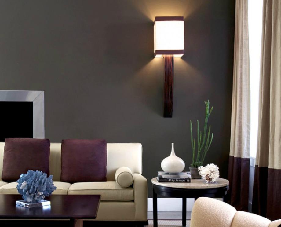 Σε αυτό το σαλόνι το 60% καλύπτεται από γκρι χρώμα, το 30% από μπεζ και το 10% από μοβ