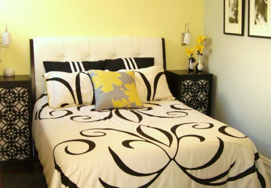 Στο υπνοδωμάτιο μπορείτε να χρησιμοποιήσετε μία παλ απόχρωση του κίτρινου χρώματος