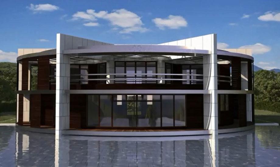 Η κατοικία περιλαμβάνει δύο ορόφους.