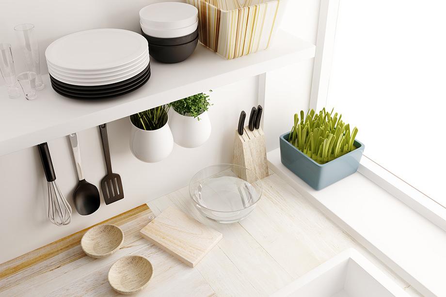 Για ένα πιο μίνιμαλ αποτέλεσμα χρησιμοποιήστε αντικείμενα σε άσπρο και μαύρο.