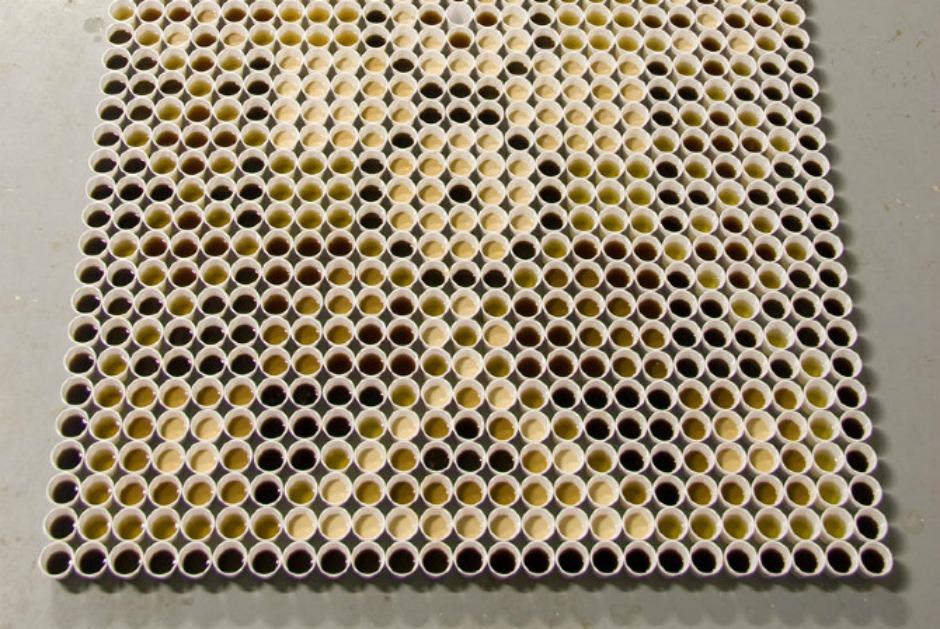 Χαλί από κυπελάκια καφέ