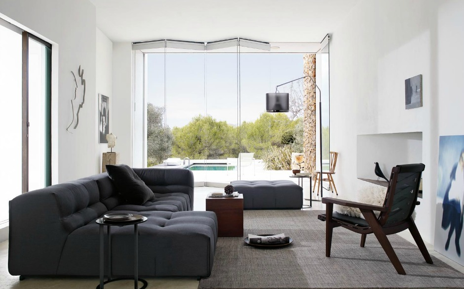 Οι καναπέδες στις αποχρώσεις του γκρι είναι η τέλεια επιλογή για ένα μοντέρνο σπίτι