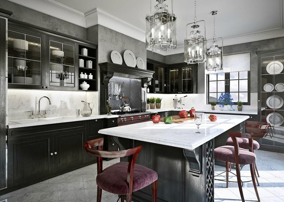 Το χρώμα του κάρβουνου στην κουζίνα