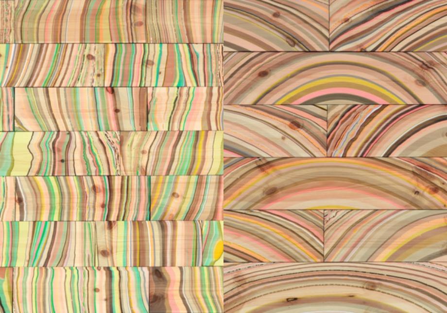 Πολύχρωμο ξύλινο πάτωμα