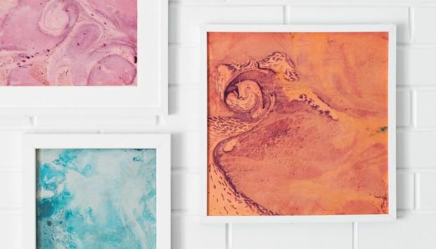 Δημιουργικό DIY: Φτιάξτε έναν Πίνακα με τα Χρώματα που έχει η Διακόσμηση σας