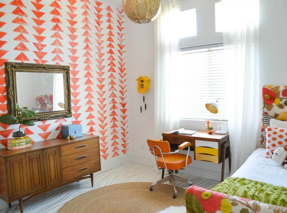 Το πορτοκαλί είναι ένα χρώμα που δίνει πιαχνιδιάρικη διάθεση σε ένα δωμάτιο αλλά επίσης αποτελεί και καλό φενγκ σούι