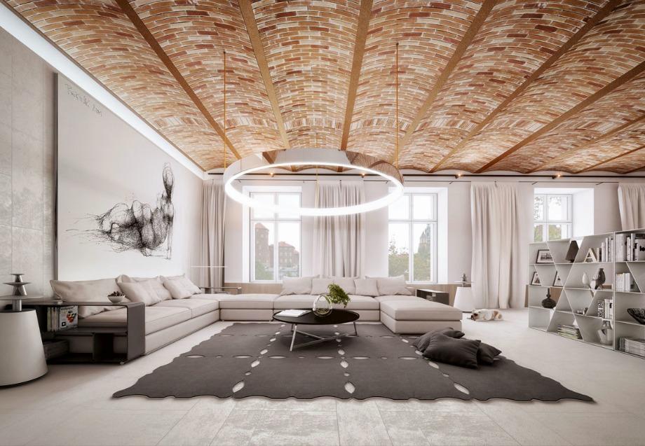 Σε μεγάλους χώρους ένας γωνιακός καναπές με 2 γωνίες θα ταιριάξει πιο εύκολα