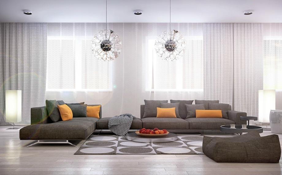 Οι χαμηλοί καναπέδες είναι κατάλληλοι για χαμηλά ταβάνια