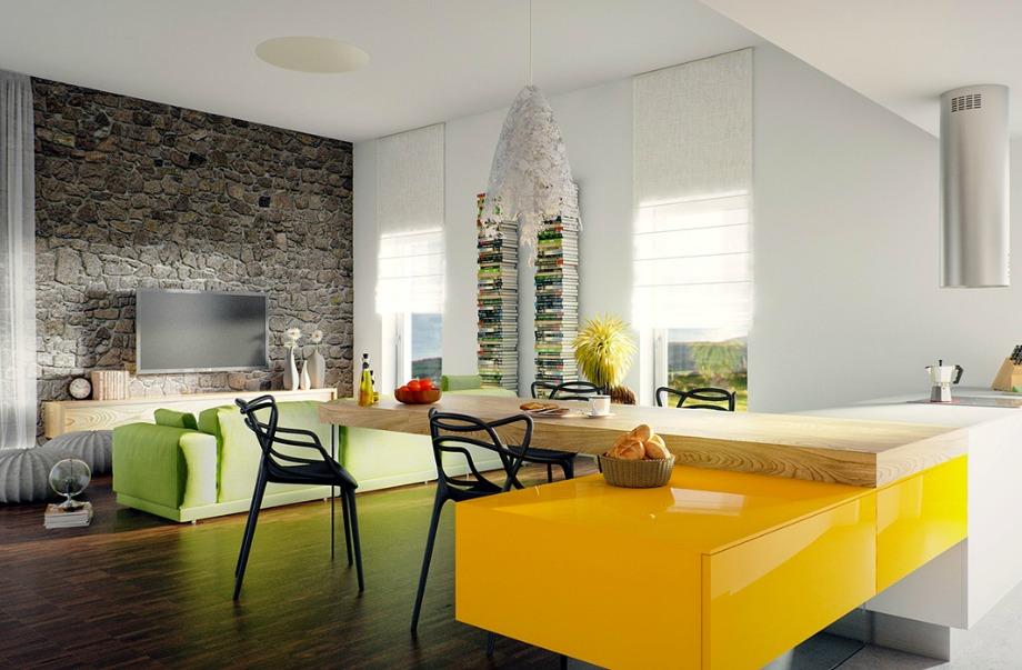 Δώστε χρώμα στον καναπέ σας για να δώσετε μοντέρνα πινελιά στο σαλόνι σας