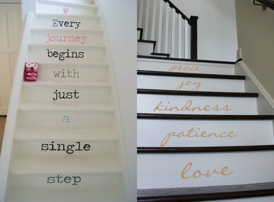Μπορείτε να επιλέξετε μία όμορφη γραμματοσειρά και να γράψετε διαφορετικές λέξεις σε κάθε σκαλοπάτι