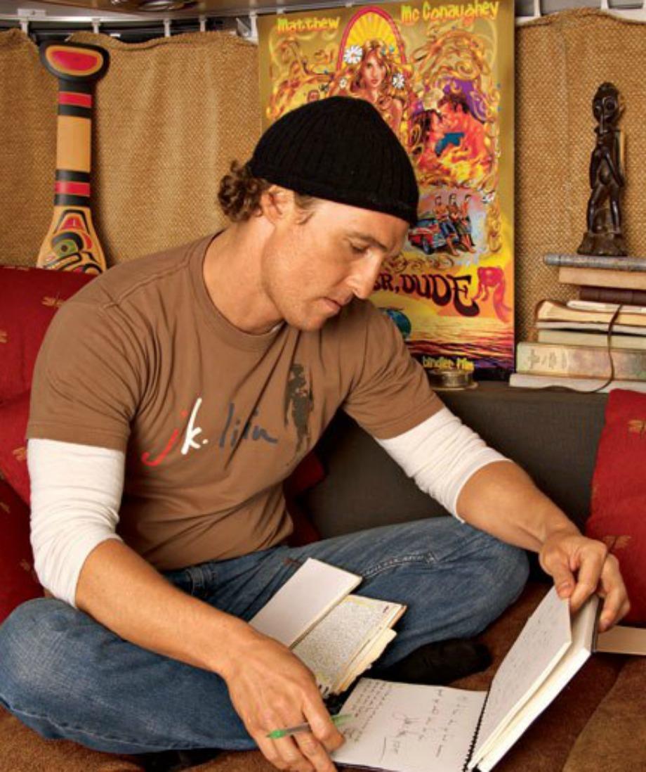 Ο ηθοποιός λατρεύει να κρατάει journals με τις περιπλανήσεις του