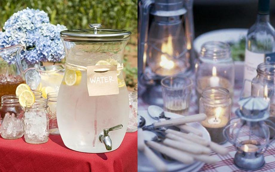 Φτιάξτε για το πάρτι σας ποτήρια με πάγο και λεμόνι αλλά και μερικά κεριά για το τραπέζι που θα φάτε