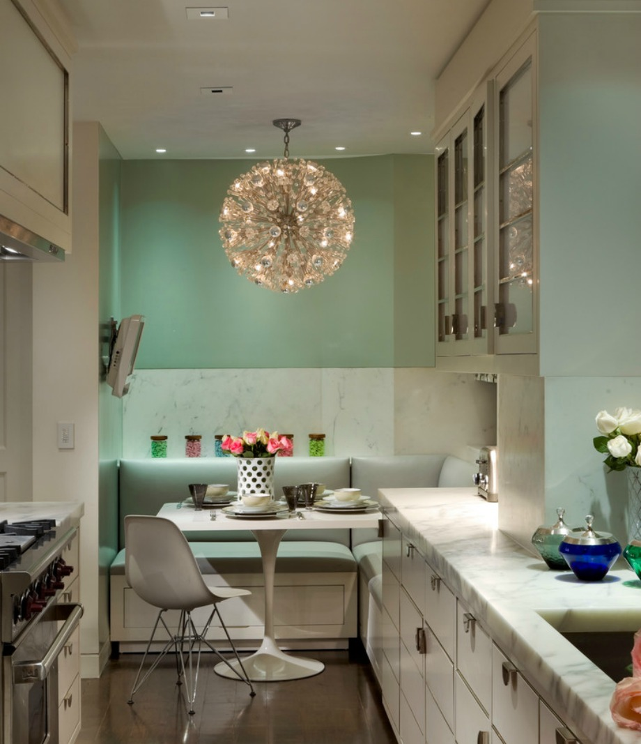 Το φυστικί είναι μία απόχρωση που ταιριάζει σε μπάνια και κουζίνες