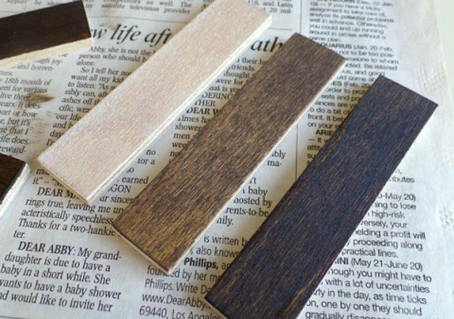 Βάψτε τα ξυλάκια σε διαφορετική απόχρωση