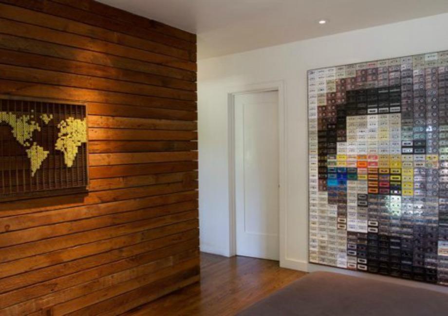 Χρησιμοποιώντας παλιές κασέτες, φτιάξτε ένα όμορφο διακοσμητικό τοίχου
