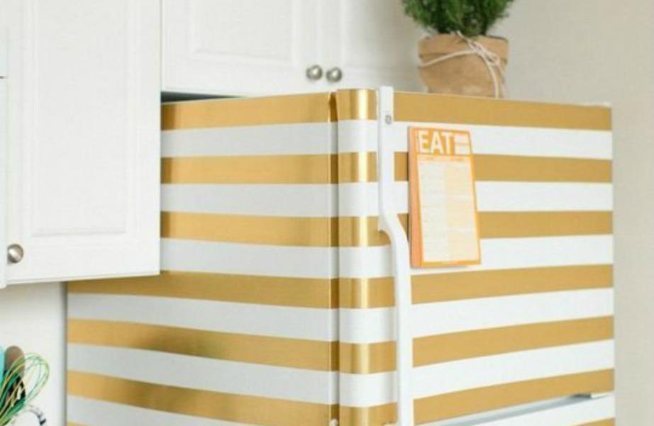Το ψυγείο δείχνει τελείως διαφορετικό με χρυσές ρίγες