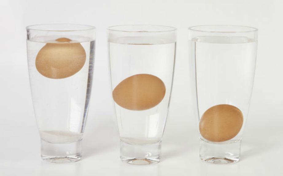 ΓΙα να δείτε πόσο φρέσκο είναι ένα αυγό βάλτε το μέσα σε ένα ποτήρι με νερό