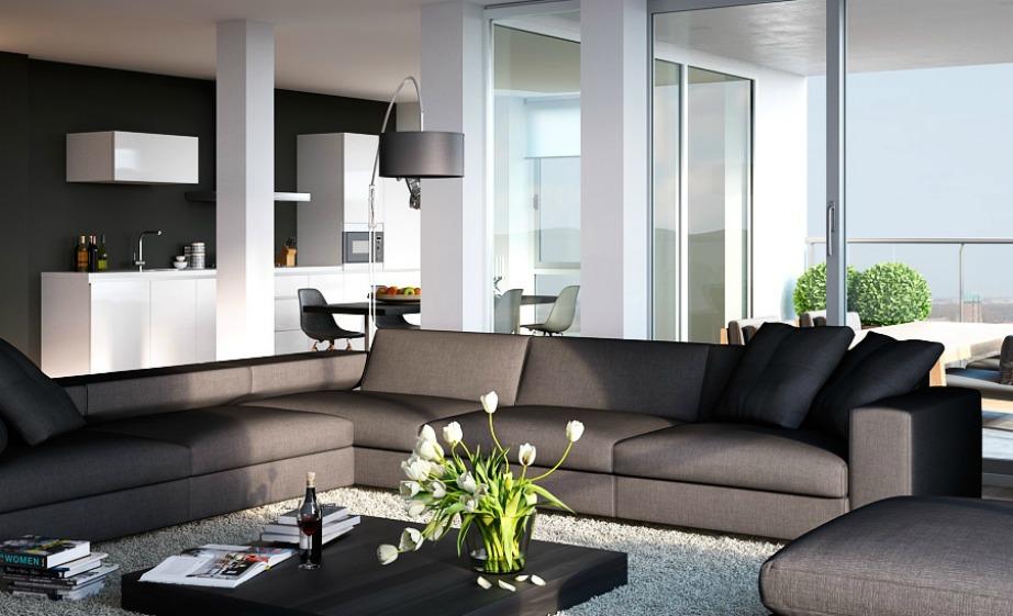 Ένας χαμηλός καναπές δίνει πιο ωραία ατμόσφαιρα στο σπίτι.