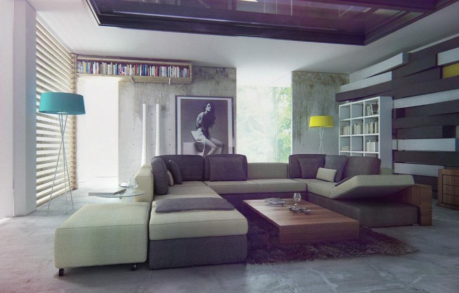 Προσθέστε στο μίνιμαλ σαλόνι σας ένα εντυπωσιακό κάδρο για να γεμίσετε τον χώρο