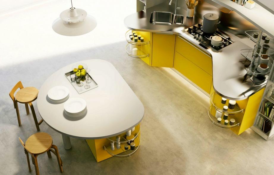 Το τραπέζι έχει ειδικούς αποθηκευτικούς χώρους για μεγαλύτερη λειτουργικότητα