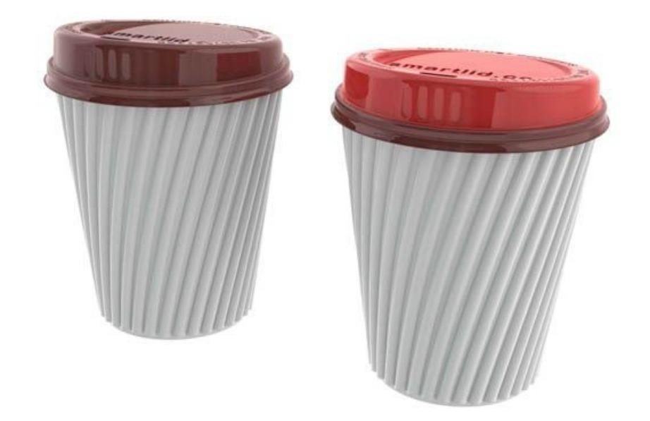 Αυτό το ποτήρι αλλάζει χρώμα στο καπάκι όταν ο καφές αποκτάει την κατάλληλη θερμοκρασία για να τον πιείτε χωρίς να καείτε.