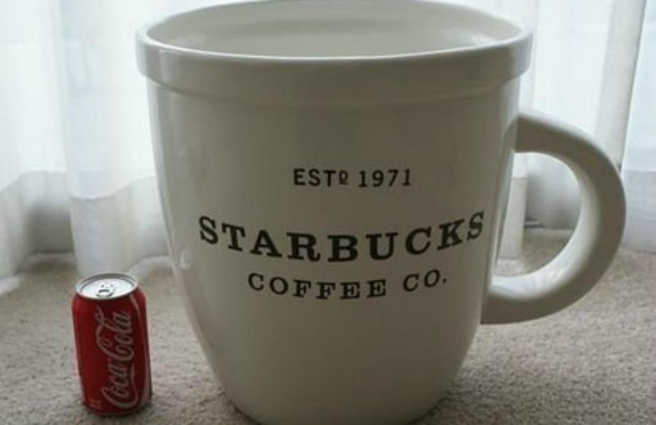 Μια κούπα που χωράει 19 κιλά καφέ μπιορεί να χρησιμεύσει ως διακοσμητικό ή αποθηκευτικό χώρο.