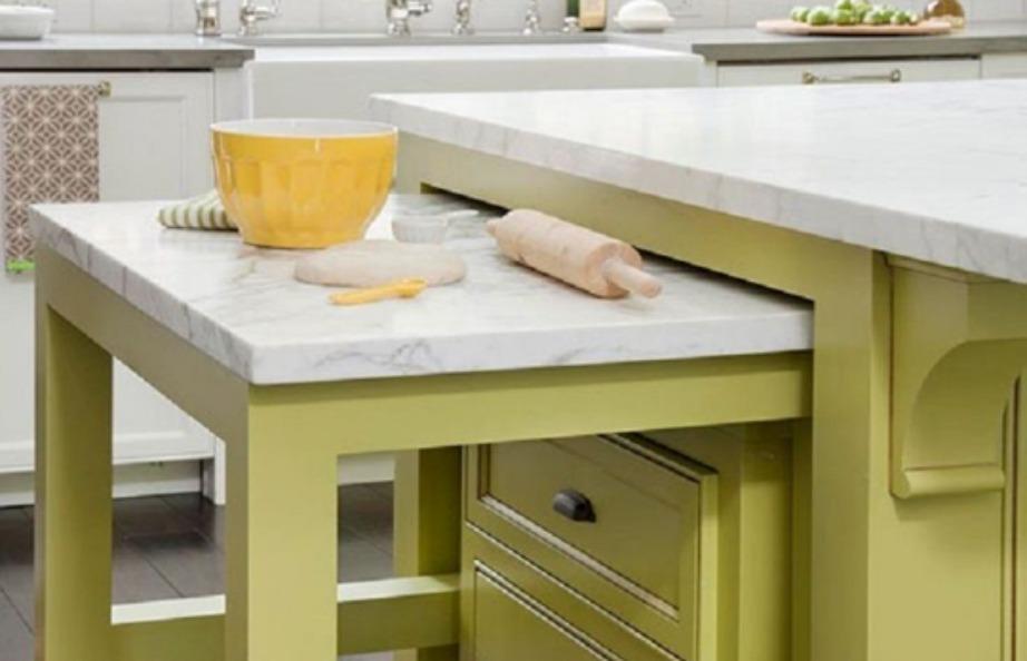 Βρείτε πάγκο που να περιέχει έξτρα τραπέζι το οποίο να το χρησιμοποιείται όποτε το χρειάζεστε