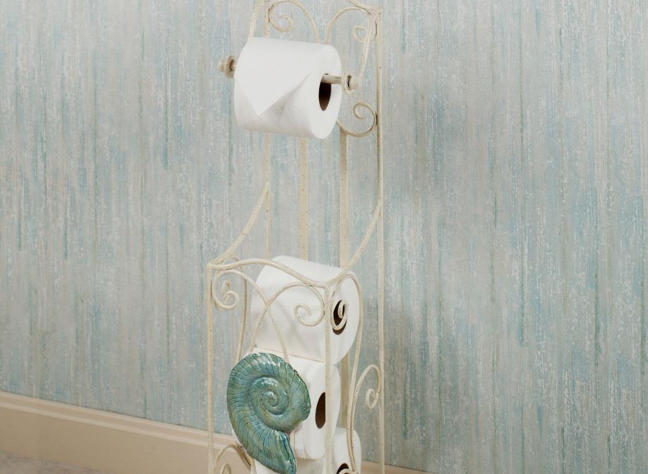 Βάλτε το χαρτί υγείας σε μια όμορφη υποδοχή και μην το ακουμπάτε απλά πάνω στο πλυντήριο ή τον νεροχύτη