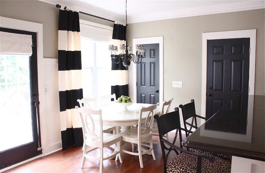 Paint it black: οι μαύρες πόρτες θα φέρουν αέρα κομψότητας στο χώρο σας.