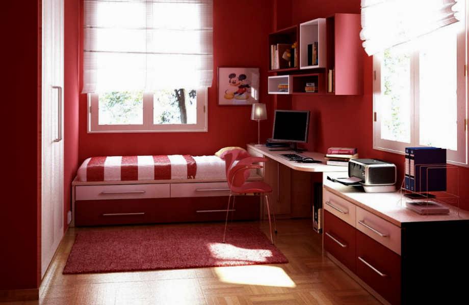 Το κόκκινο μας γεμίζει ενέργεια: προτιμήστε τις πιο σκούρες αποχρώσεις του για ένα ξεχωριστό εφηβικό δωμάτιο.