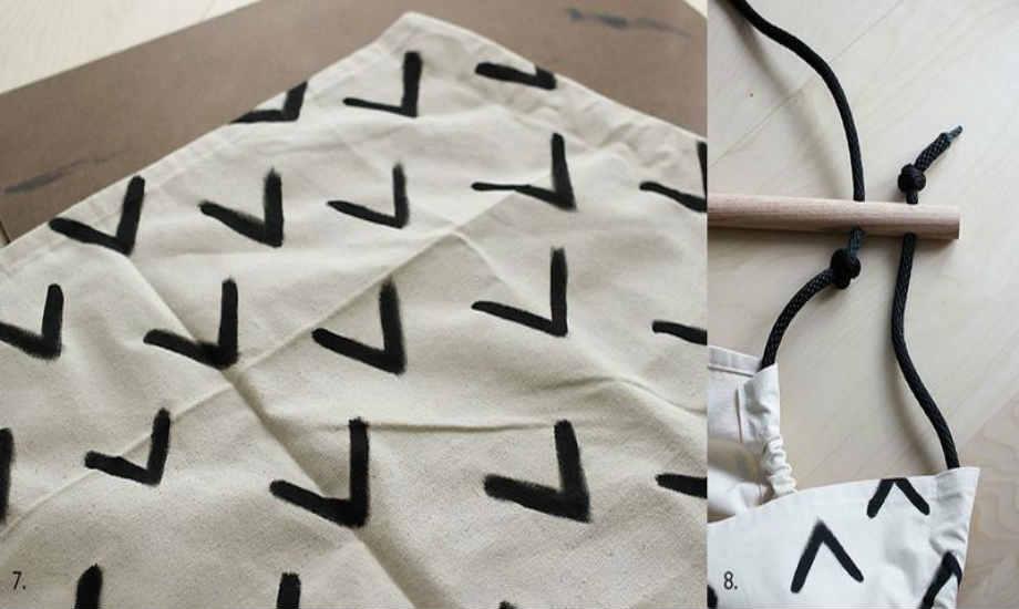 Αν βρίσκετε το ασπρόμαυρο βαρετό, μπορείτε να αγοράσετε κάποιο χρωματιστό ύφασμα.