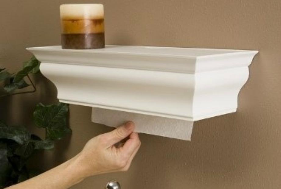 Βάλτε το χαρτί κουζίνας και το χαρτί υγείας πίσω από μια όμορφη κατασκευή σαν αυτή της φωτογραφίας.