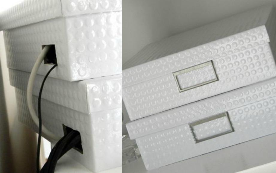 Βάλτε τα καλώδια και το ρούτερ σας μέσα σε όμορφα κουτιά.