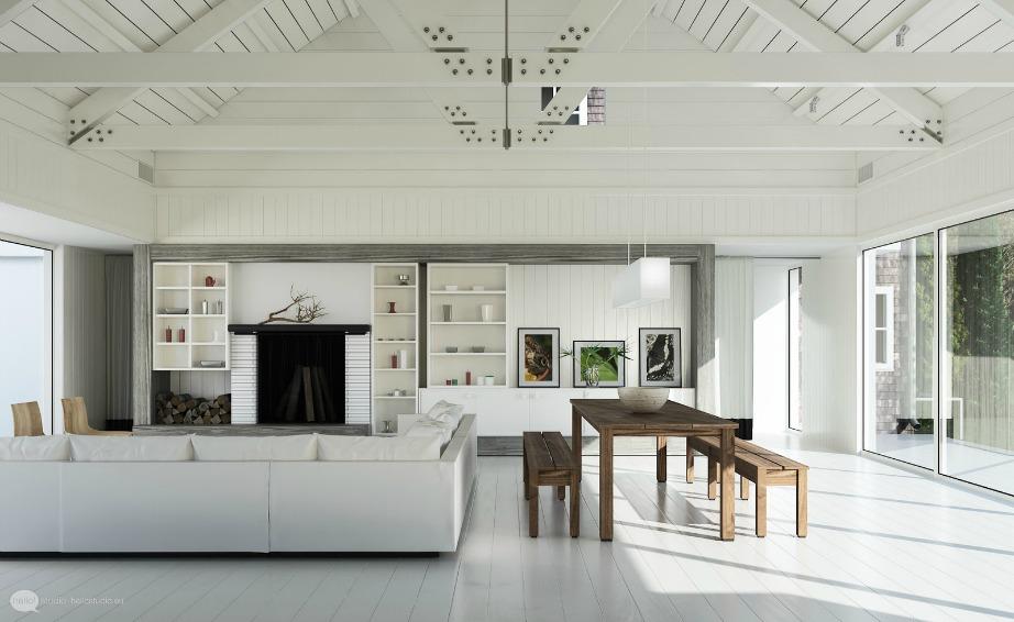 Η σκανδιναβική διακόσμηση επιβάλει να διακοσμείτε με λευκό πάνω σε λευκό και τη χρήση πολύ ξύλου.