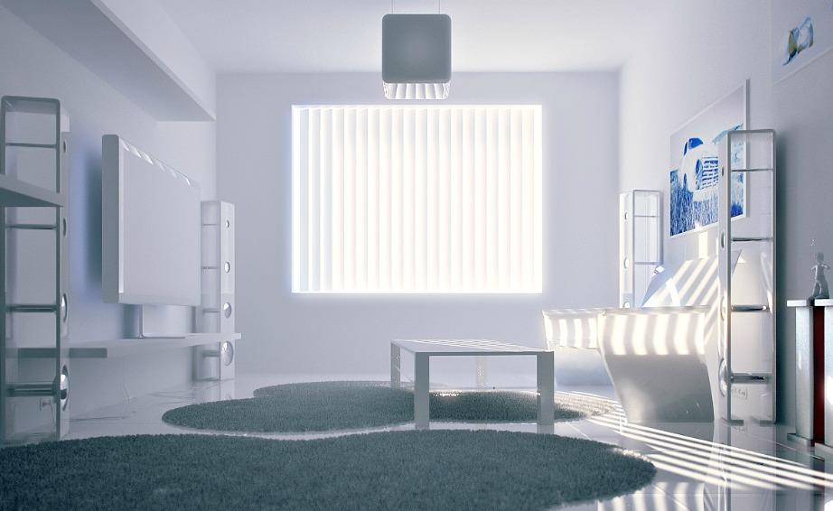 Αν το δωμάτιό σας έχει πολύ φυσικό φως, χρησιμοποιείστε ψυχρούς τόνους του λευκού.