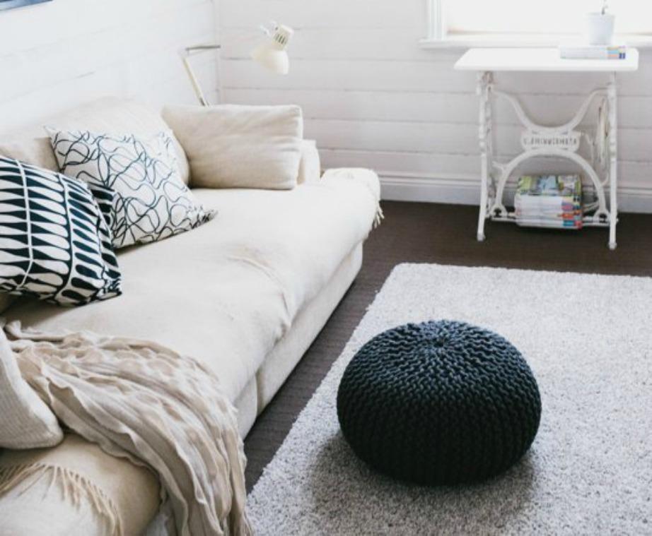 Αν επιλέξετε δύο αποχρώσεις φροντίστε να χρησιμοποιήσετε διαφορετικές υφές για να γεμίσει ο χώρος.