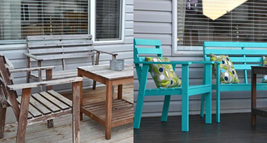 Βάψτε με μια έντονη απόχρωση τις ξύλινες καρέκλες σας.