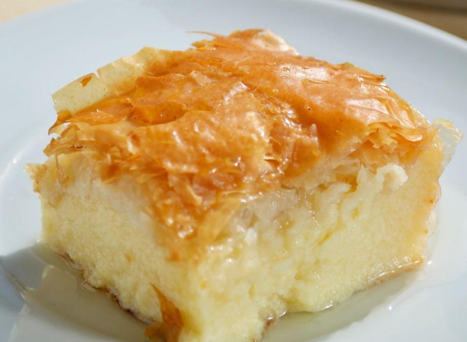 Το γαλακτομπούρεκο είναι ένα από τα αγαπημένα γλυκά των τουριστών.