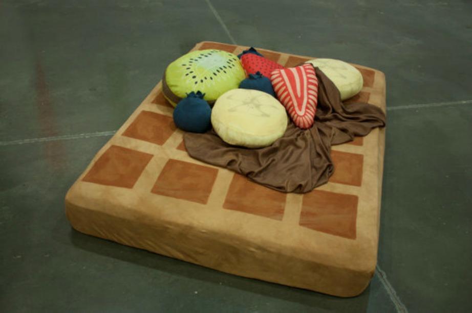 Κρεβάτι βάφλας για παιδικό δωμάτιο.